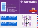 Self Adhesive: Airmail: 4 x Worldwide (20 grams)