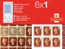 Self Adhesive: Penny Red Anniversary: 6 x 1st
