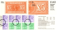 Counter: New Design: £1.43 Postal Hist. 6 (£5 Orange)