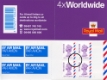Click to view all covers for Self Adhesive: Airmail: 4 x Worldwide (20 grams)