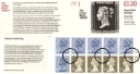 Counter: New Design: £1.30 Postal Hist 1 (Penny Black)