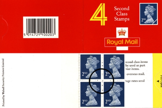 : Non-value Indicators: 4 x 2nd Stamp Book