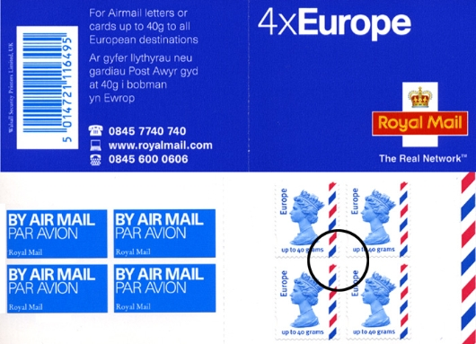 airmail 4 x europe 40 grams stamp book bfdc