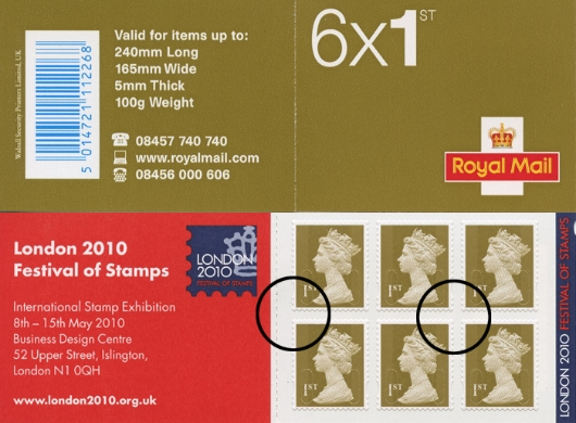 Stamp Book: 6 x 1st Advert (Festival of Stamps)