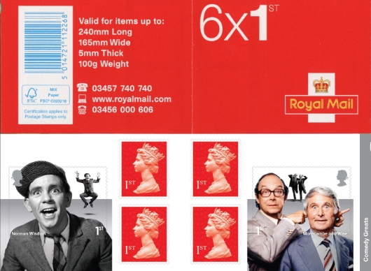 : Comedy Greats Stamp Book