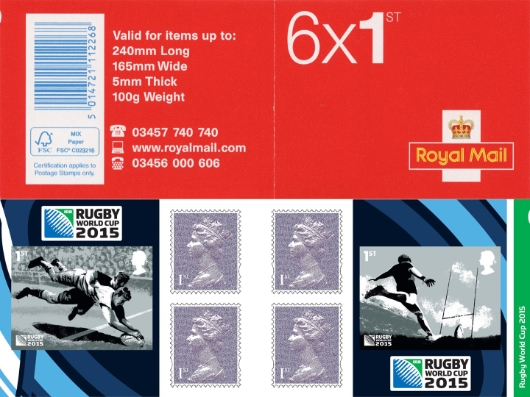 : Rugby World Cup Stamp Book
