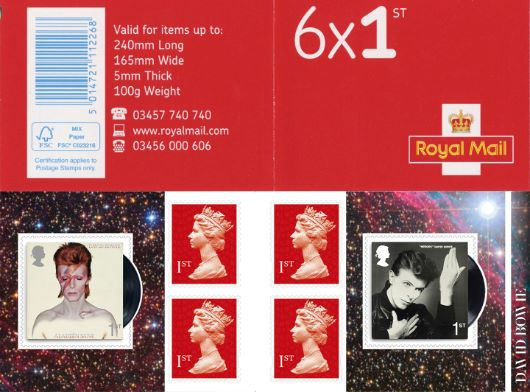 : David Bowie Stamp Book