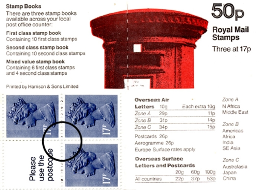 : New Design: 50p Pillar Box (1p Discount) Stamp Book