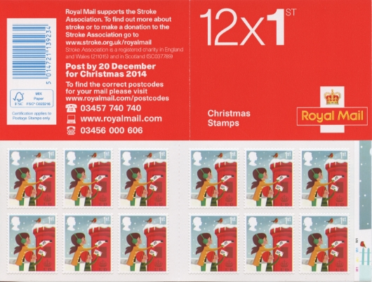 : Christmas 1st Class Stamp Book
