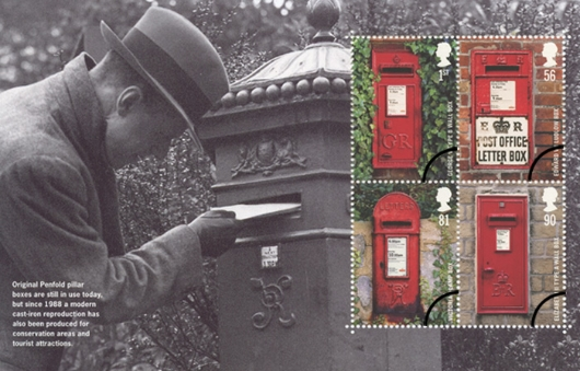 Prestige Stamp Book: Post Boxes - Pane 3