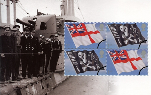 Prestige Stamp Book: Navy Uniforms - Pane 4