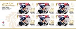 View enlarged 'Cycling - Road - Men's Individual Time Trial: Olympic Gold Medal 2: Miniature Sheet' Image.