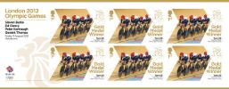 View enlarged 'Cycling - Track - Men's Team Pursuit: Olympic Gold Medal 7: Miniature Sheet' Image.