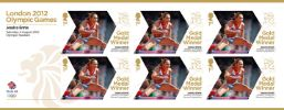 View enlarged 'Athletics - Woman's Heptathlon: Olympic Gold Medal 12: Miniature Sheet' Image.