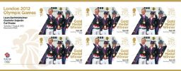 View enlarged 'Equestrian - Team Dressage: Olympic Gold Medal 20: Miniature Sheet' Image.