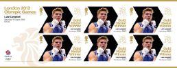 View enlarged 'Boxing - Men's Bantam Weight: Olympic Gold Medal 28: Miniature Sheet' Image.