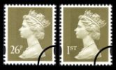 View enlarged 'Machins (EP): Gold Definitives: 1st & 26p' Image.