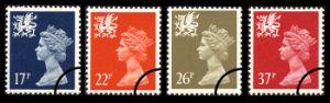 View enlarged 'Wales 17p, 22p, 26p, 37p' Image.