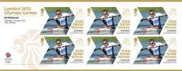 Canoe Sprint - Men's Kayak Single: Olympic Gold Medal 26: Miniature Sheet