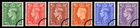 KGVI: Definitives Pale Colours