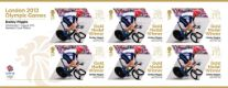 Click to view all covers for Cycling - Road - Men's Individual Time Trial: Olympic Gold Medal 2: Miniature Sheet