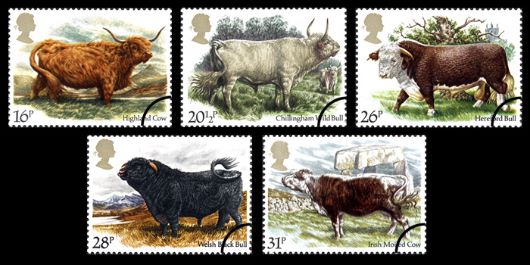British Cattle Stamp(s)
