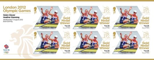 Rowing - Women's Pair: Olympic Gold Medal 1: Miniature Sheet