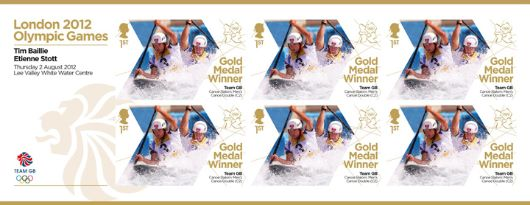 Canoe Slalom - Men's Canoe Double: Olympic Gold Medal 3: Miniature Sheet