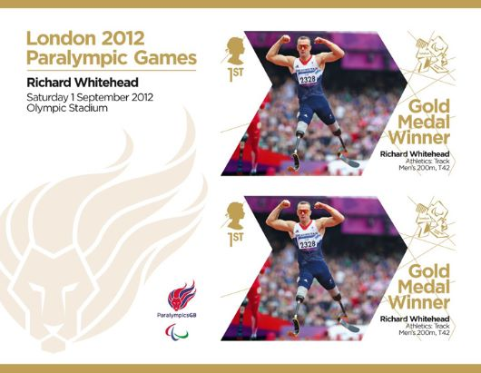 Athletics - Men's 200m T42: Paralympic Gold Medal 6: Miniature Sheet