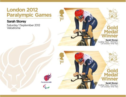 Cycling - Women's Individual C4-5 Time Trial: Paralympic Gold Medal 8: Miniature Sheet
