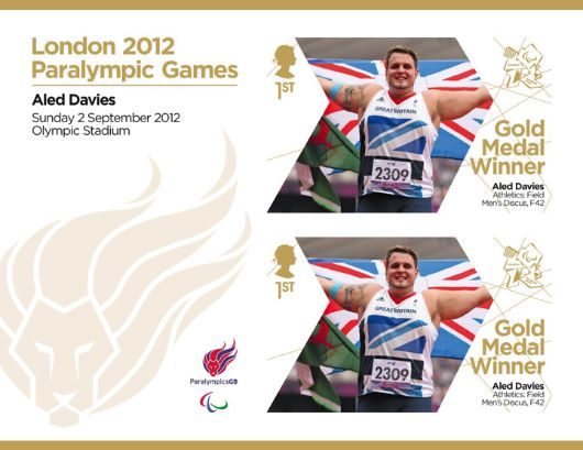 Athletics - Men's Discus F42: Paralympic Gold Medal 11: Miniature Sheet