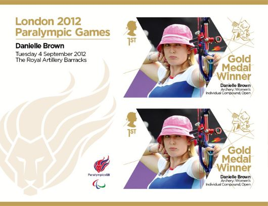 Archery - Women's Individual Compound - Open: Paralympic Gold Medal 19: Miniature Sheet