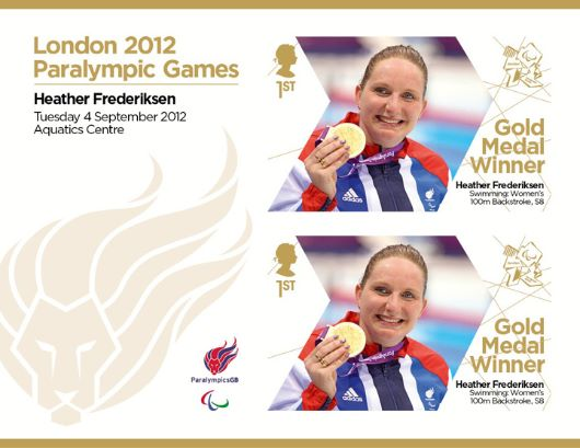 Swimming - Women's 100m Backstroke, S8: Paralympic Gold Medal 20: Miniature Sheet