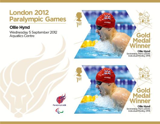 Swimming - Men's 200m Individual Medley, SM8: Paralympic Gold Medal 24: Miniature Sheet