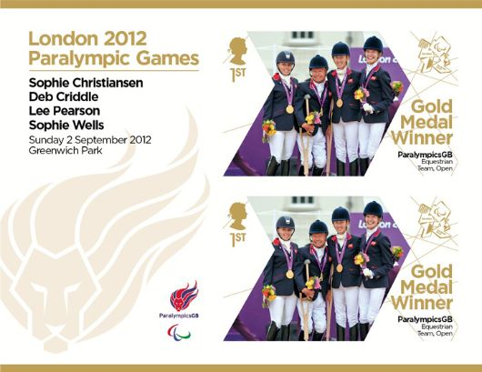 Equestrian - Team - Open: Paralympic Gold Medal 25: Miniature Sheet