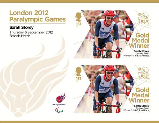 Cycling - Road - Women's C4-5 Road Race: Paralympic Gold Medal 27: Miniature Sheet