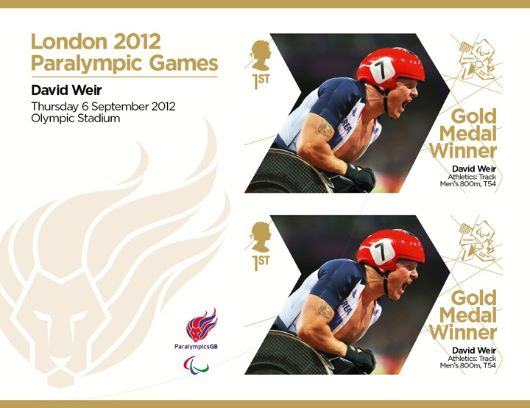 Athletics - Track - Men's 800m T54: Paralympic Gold Medal 30: Miniature Sheet