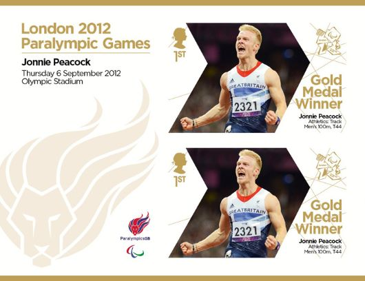 Athletics - Track- Men's100m T44: Paralympic Gold Medal 31: Miniature Sheet