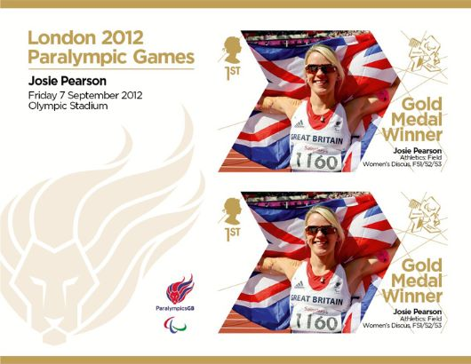 Athletics - Field - Women's Discus, F52/52/53: Paralympic Gold Medal 32: Miniature Sheet