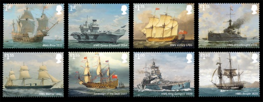 Royal Navy Ships Stamp(s)