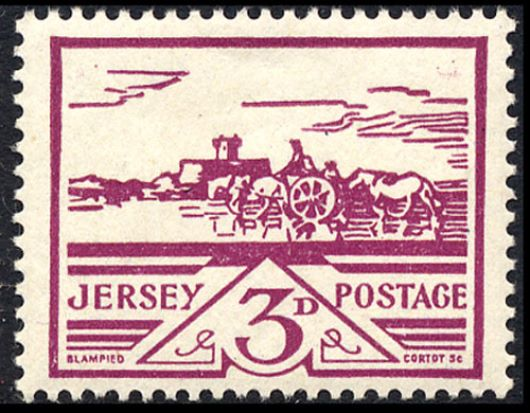 Jersey 3d (Views) Stamp(s)