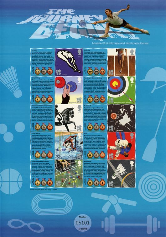 Olympic Games 1 [Commemorative Sheet]