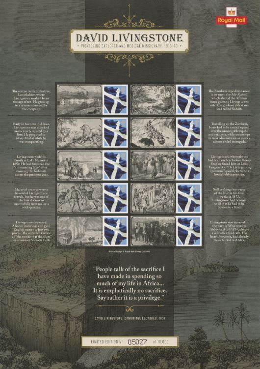 David Livingstone [Commemorative Sheet]