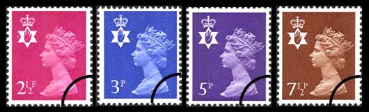 Northern Ireland 2 1/2p, 3p, 5p, 7 1/2p Stamp(s)