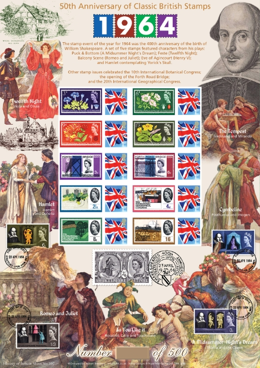 Classic British Stamps of 1964